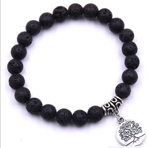 Black Lava Tree of life Bracelet